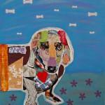 Pop art dog collage