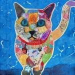 pop art cat collage