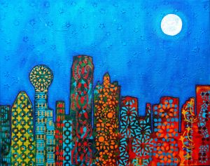 abstract skyline of dallas