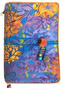 handmade hand painted travelers journal