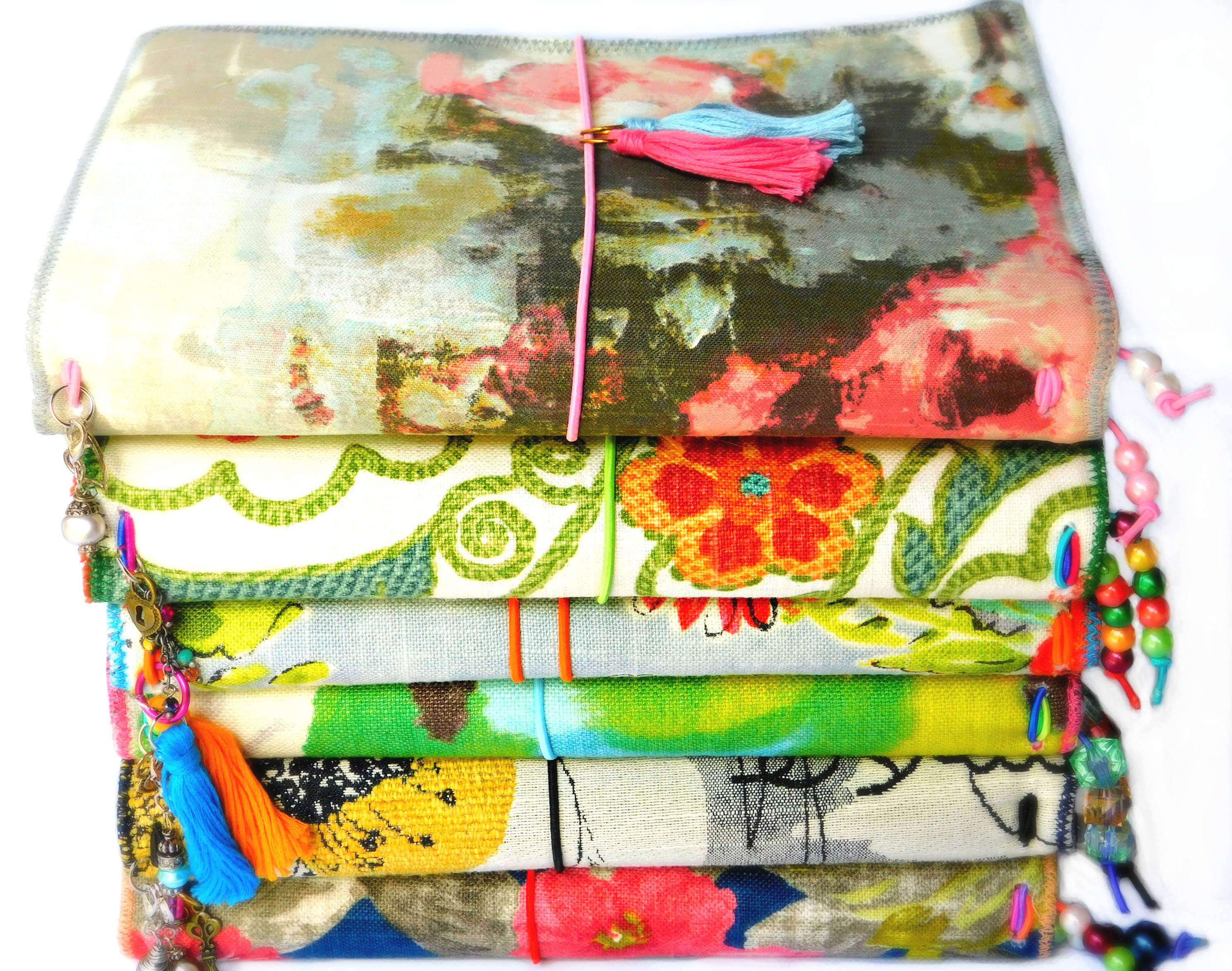 fabric travelers journals