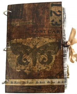 vintage butterfly junk journal