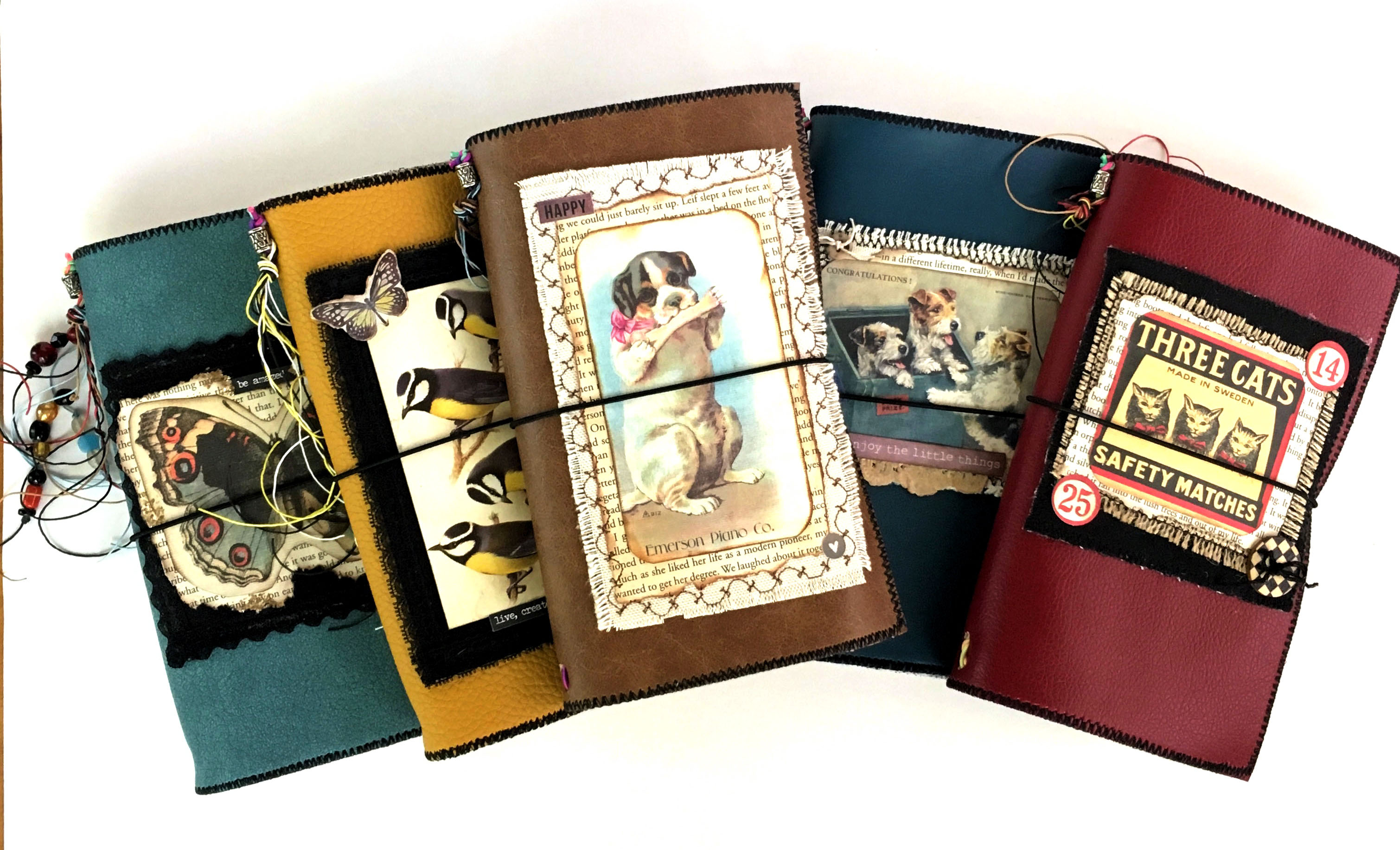 faux leather travelers journals