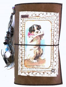 faux leather travelers journal