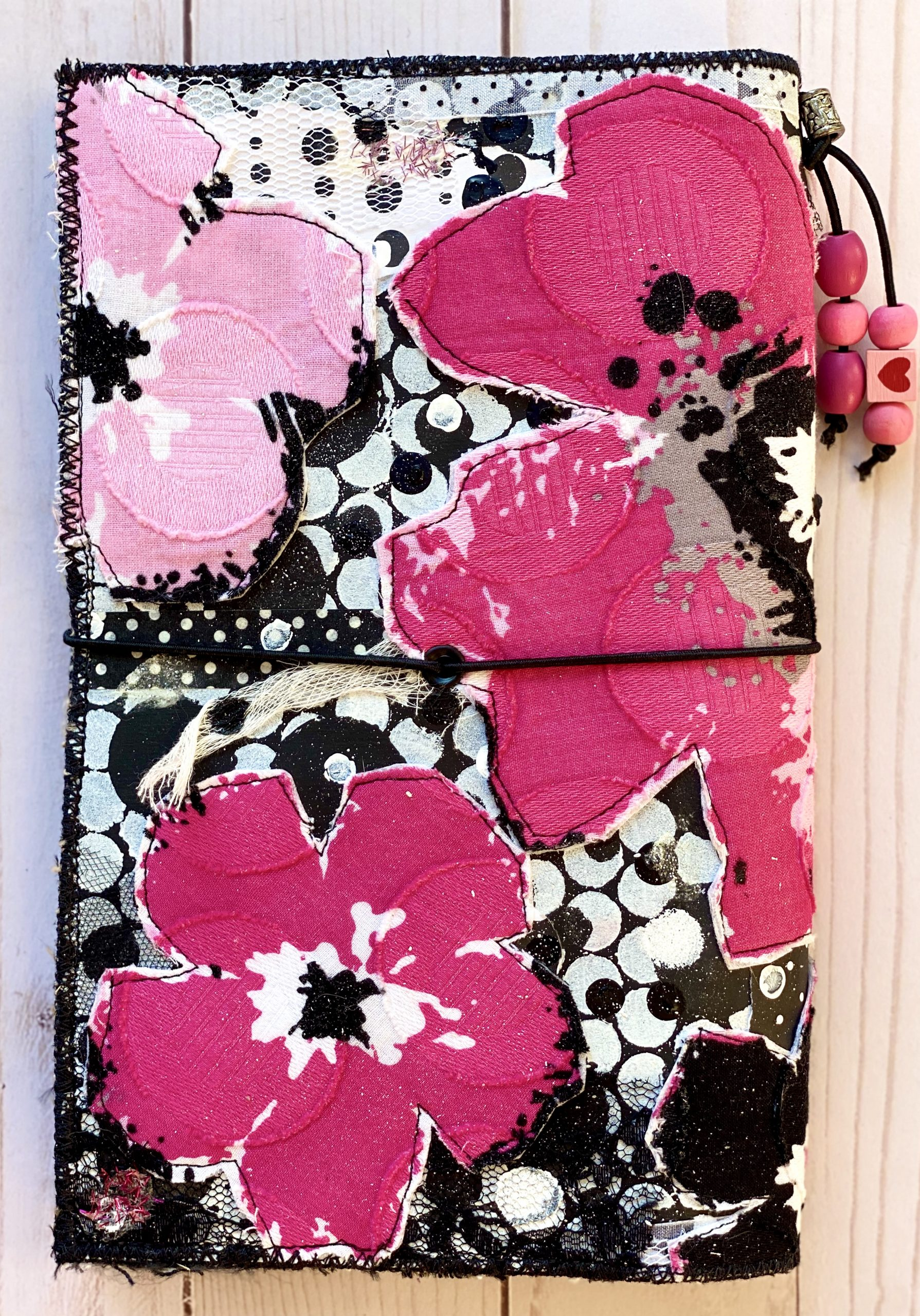 Pink Floral Travelers Journal